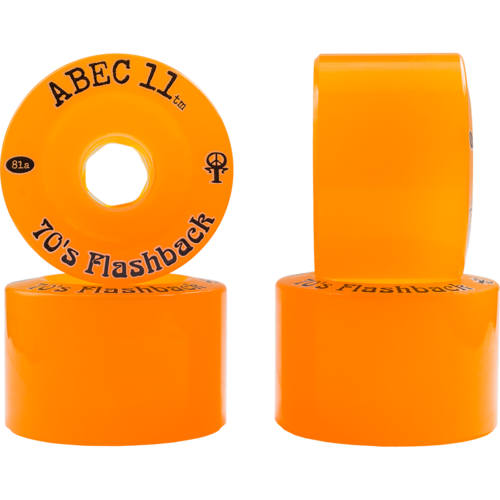 70mm ABEC 11 Limited Edition Flashbacks - Amber - Freeride Wheels
