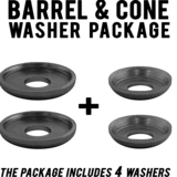 MuirSkate's Cupped Washer Pack for Barrel and Cone Bushings