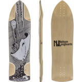 Nelson StingRay DH Longboard Skateboard Deck w/ Grip