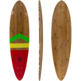 DB Longboards Anthem Rasta Walnut Pintail 38 Longboard Skateboard Custom Complete