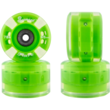 65mm Sunset Round Lipped Green Flare Longboard Skateboard Wheels