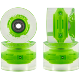 59mm Sunset Square Lipped Green Flare Longboard Skateboard Wheels