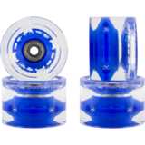 65mm Sunset Square Lipped Blue Flare Longboard Skateboard Wheels